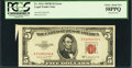 Error Notes:Attached Tabs, Fr. 1534 $5 1953B Legal Tender Note. PCGS Choice About New 58PPQ.....