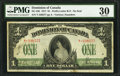 Canadian Currency, DC-23b $1 1917.. ...