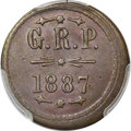 Coins of Hawaii , 1887 TOKEN Grove Ranch Plantation. 12 1/2 Cents, MS62 Brown PCGS.M. TE-17....