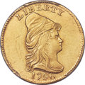 Early Quarter Eagles, 1796 $2 1/2 No Stars on Obverse, BD-2, R.4 -- Bent -- PCGS GenuineSecure. AU Details....
