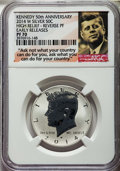 2014-D 50C High Relief Kennedy, 50th Anniversary, Early Releases SP70 NGC. This set includes the following: 2014-S 50C E...