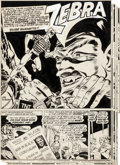Original Comic Art:Panel Pages, Joe Kubert Green Hornet Comics #20 Complete 7-Page Story TheZebra Original Art (Harvey, 1944).... (Total: 7 Original Art)