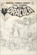 Original Comic Art:Covers, Barry Windsor-Smith Tomb of Dracula #8 Unpublished CoverOriginal Art (Marvel, 1973)....