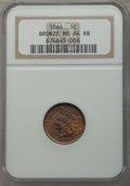 Indian Cents, 1864 1C Bronze No L MS64 Red and Brown NGC. NGC Census: (198/316). PCGS Population: (436/295). CDN: $300 Whsle. Bid for pro...