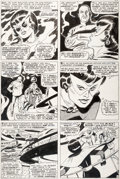 Original Comic Art:Panel Pages, John Buscema and George Roussos (as George Bell) Avengers#42 Story Page 11 Black Widow Original Art (Marvel, 1967...