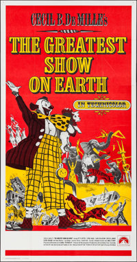 "The Greatest Show on Earth (Paramount, R-1960s). International Three Sheet (41"" X 78.5""). Drama"