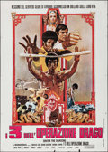 "Movie Posters:Action, Enter the Dragon (Warner Brothers, R-Late 1970s). Italian 2 - Fogli(39.25"" X 55""). Action.. ..."