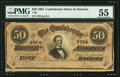 Confederate Notes:1864 Issues, T66 $50 1864 PMG PF-8 Cr. 499.. ...