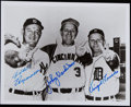 Autographs:Photos, Baseball No-Hitter Pitchers Multi-Signed Photo - Vander Meer,Reynolds, & Trucks. ...
