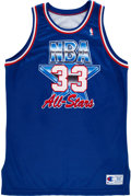 Basketball Collectibles:Uniforms, 1992 Larry Bird Pro Cut NBA All Star Game Jersey....