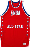 Basketball Collectibles:Uniforms, 1985 NBA All-Star Game Blank Jersey....