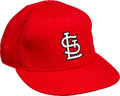 Baseball Collectibles:Hats, 1980's Vince Coleman Signed Game Worn St. Louis Cardinals Cap....