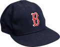 Baseball Collectibles:Hats, 1986 Wade Boggs Game Worn Signed Boston Red Sox Cap. ...