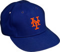Baseball Collectibles:Hats, 1980's Dwight Gooden Signed Game Worn New York Mets Hat....