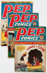 Pep Comics Group of 6 (MLJ, 1946-50) Condition: Average GD/VG.... (Total: 6 Comic Books)