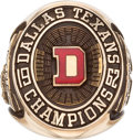 Football Collectibles:Others, 1962 Abner Haynes Dallas Texans AFL Champions Salesman Sample Ring....