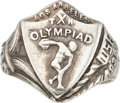 Olympic Collectibles:Autographs, 1932 Los Angeles Summer Olympics Ring....