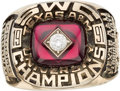 Football Collectibles:Others, 1991 Texas A&M Southwest Conference Champions Ring Presented to Chris Crooms....