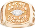 Football Collectibles:Others, 1999 Archie Griffin Award Ring Made For Michael Vick....