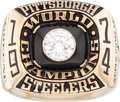 Football Collectibles:Others, 1974 Mean Joe Greene Pittsburgh Steelers Super Bowl IX Championship Salesman's Sample Ring. ...