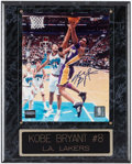 Autographs:Photos, Kobe Bryant Signed Photograph With Plaque....