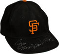 Baseball Collectibles:Hats, 1970's San Francisco Giants Cap Signed by Willie Mays & WillieMcCovey....