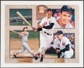 Autographs:Photos, Ted Williams Signed Lithograph. ...