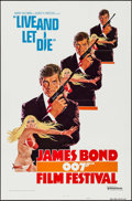 "Movie Posters:James Bond, James Bond Film Festival -- Live and Let Die (United Artists, R-1976). International One Sheet (27"" X 41"") Style A. James Bo..."
