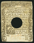 Colonial Notes:Connecticut, Connecticut July 1, 1780 20s Very Fine.. ...