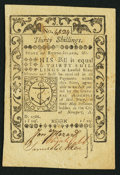 Colonial Notes:Rhode Island, Rhode Island May 1786 30s Extremely Fine.. ...