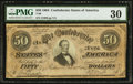 Confederate Notes:1864 Issues, T66 $50 1864 PF-13 Cr. 503.. ...