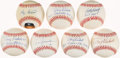 Autographs:Baseballs, Yankees Greats Singled Signed Baseballs Lot of 7....