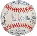Autographs:Baseballs, 1969 New York Mets Team Signed Reunion Baseball (26 Signatures)....