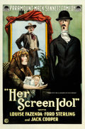 "Movie Posters:Comedy, Her Screen Idol (Paramount, 1918). One Sheet (28.25"" X 42"").. ..."