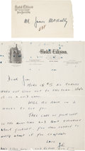 Football Collectibles:Others, 1920's Johnny Blood McNally Handwritten Letter to Brother James....