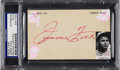 Baseball Collectibles:Others, 1940's Jimmie Foxx Signed Index Card. ...