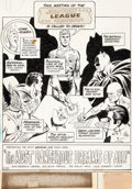 Original Comic Art:Splash Pages, Dick Dillin and Joe Giella Justice League of America #89Splash Page 1 Original Art (DC, 1971)....
