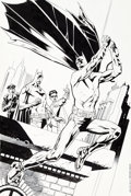 Original Comic Art:Covers, Kevin Nowlan Batman #703 Variant Cover Original Art (DC,2010)....