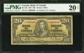 Canadian Currency: , Ten Million Serial Number BC-25b $20 1937.. ...