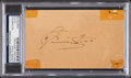Autographs:Index Cards, 1939 Jimmie Foxx Signed Government Postcard, PSA/DNA Authentic. ...
