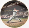 Autographs:Others, Joe DiMaggio Signed Plate. ...