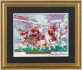 Football Collectibles:Others, Joe Montana Super Bowl XIX Print Signed by LeRoy Neiman. ...