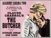 "The Butcher (Cinerama Releasing, 1970). Silk Screen British Quad (30"" X 40""). Thriller"