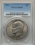 Eisenhower Dollars, 1971 $1 MS65 PCGS. PCGS Population: (989/96). NGC Census: (718/45). Mintage 47,799,000. ...