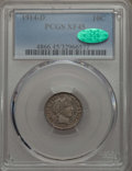 Barber Dimes: , 1914-D 10C XF45 PCGS. CAC. PCGS Population: (11/618). NGC Census: (10/482). Mintage 11,908,000. ...