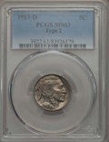 Buffalo Nickels, 1913-D 5C Type Two MS63 PCGS. PCGS Population: (301/614). NGCCensus: (173/339). CDN: $290 Whsle. Bid for problem-free NGC/...