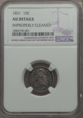 Bust Dimes: , 1831 10C -- Improperly Cleaned -- Details NGC. AU. NGC Census:(6/230). PCGS Population: (33/265). CDN: $360 Whsle. Bid for...