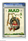 """Magazines:Mad, Mad #134 Gaines File pedigree (EC, 1970) CGC NM+ 9.6 White pages. Beatles, Timothy Leary, and Hugh Hefner spoof. """"Midnight C..."""