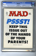 "Magazines:Mad, Mad #195 Gaines File pedigree (EC, 1977) CGC NM+ 9.6 Off-white pages. ""Airport 1977,"" ""Black Sunday,"" and ""Barney Miller"" pa..."