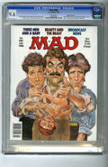 """Magazines:Mad, Mad #280 Gaines File pedigree (EC, 1988) CGC NM+ 9.6 white pages.""""Three Men and a Baby"""" and """"Beauty and the Beast"""" parodies..."""